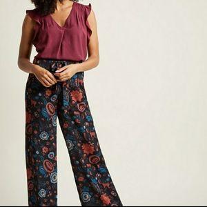NWOT ModCloth paisley jumpsuit highwaisted pants